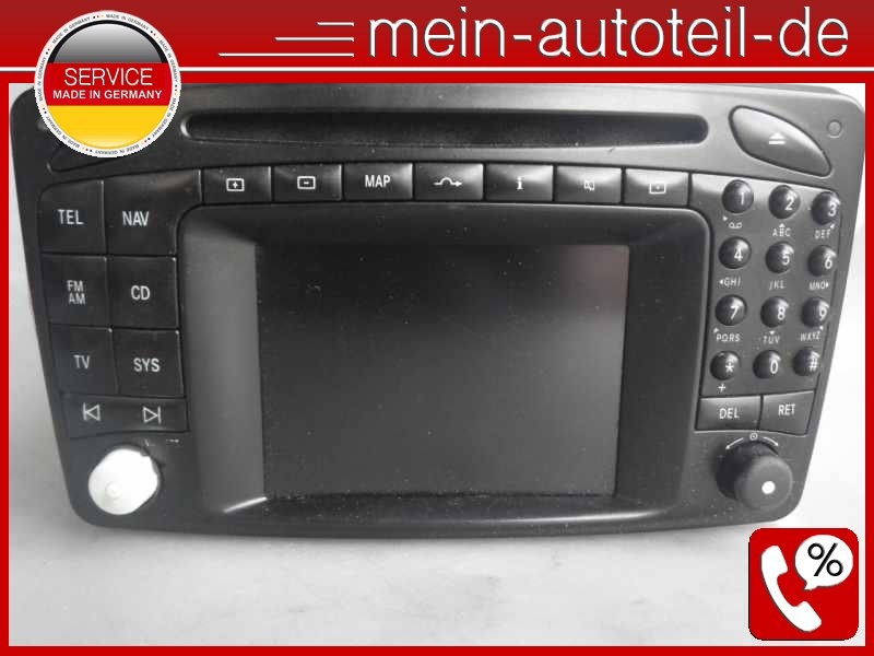 original mercedes comand 2 0 e head unit navigationssystem. Black Bedroom Furniture Sets. Home Design Ideas