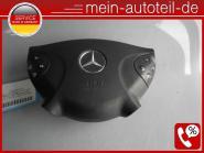 Mercedes S211 Fahrerairbag Schwarz (2002 - 2006) 2118600202 - 2118600802 SRS Air