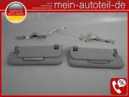 Mercedes W211 S211 KOMPLETT SET Sonnenblenden R u. L Doppelt ORIONGRAU Avantgard
