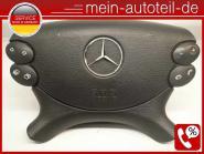 Mercedes S211 63 AMG Fahrerairbag Schwarz (2006 - 2009) 2198601502 Etnagrau 2198