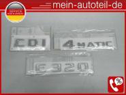 Mercedes W211 S211 Original Emblem SET Schriftzug E320 CDI 4-Matic 1248175815+20