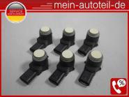 Mercedes W211 S211 SET 6 X PDC Sensor 623 Hellelfenbein (2006-2009) 623 Hellelfe
