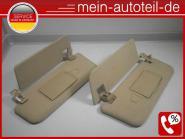 Mercedes S211 Sonnenblenden R u. L Doppelt Buckskin Elegance 2118100310 + 211810