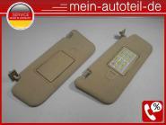 Mercedes S211 Sonnenblenden R u. L beleuchteter Spiegel Elegance 2118101010+2118