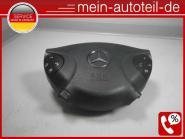 Mercedes W211 Fahrerairbag Leder mit Nähten Anthrazit (2002 - 2006) 2118600402 a