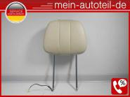 Mercedes S211 Kopfstütze Vorne NAPPALEDER Comobeige 2119705678 LEDER NAPPA BEIGE
