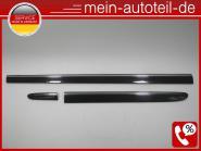 Mercedes W211 S211 Türleisten SET LINKS Avantgarde (02-09) 197 Obsidanschwarz Av