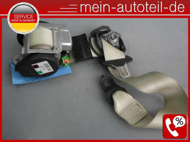 Mercedes W211 S211 Gurt VR Beige 1 Stecker (2005 - 2006) 2118608085 - Kiesel 211