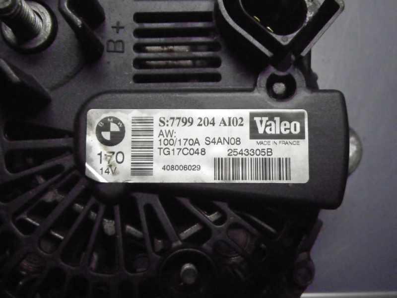 Original Valeo Lichtmaschine BMW E60 5er 6er 7er Diesel 170 A
