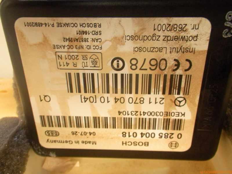 Mercedes Benz W211 Bosch A2118211958 Airbag Sitzbelegungsmatte Sitzerkennung